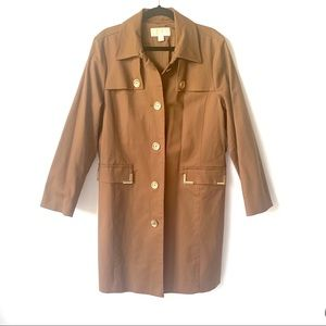 MICHAEL KORS BROWN COTTON LINED TRENCH COAT